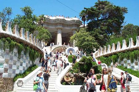 Лестница в парке Гауди