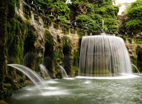 фонтан в саду виллы д'Эсте