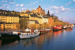 порт в центре Стокгольма