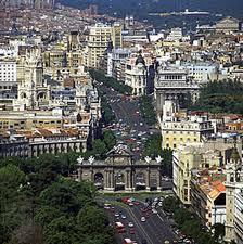 Вид сверху на Мадрид