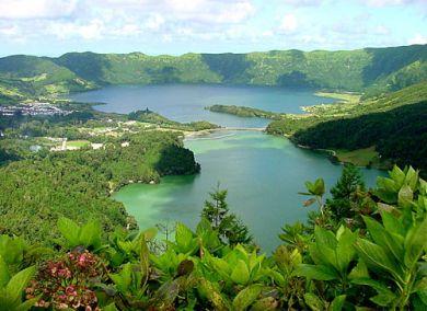 вид Азорских островов