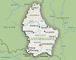 Люксембург на карте мира