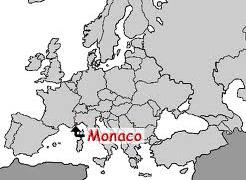 Монако на карте мира