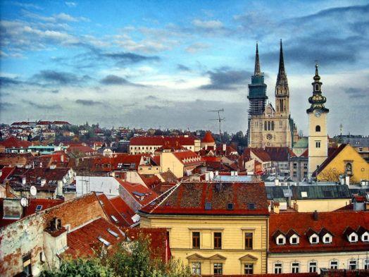 Вид на столицу Хорватии