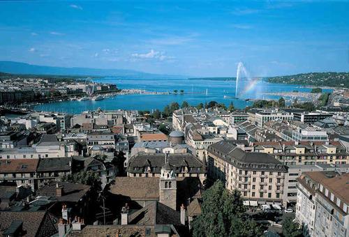 Вид на Женеву