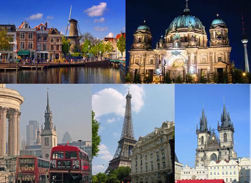расстояние между городами Европы2