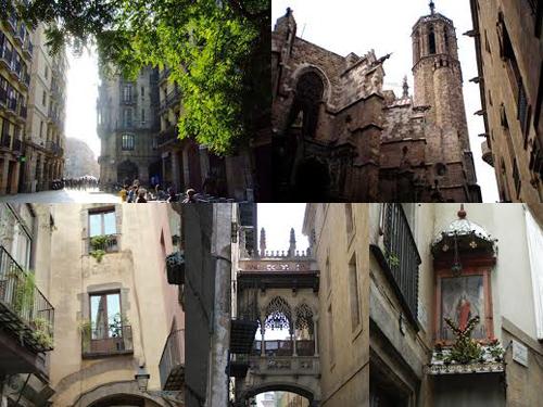 Готический квартал в Барселоне2