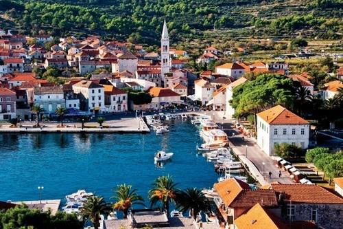 Хорватия на карте Европы-2
