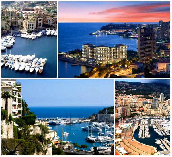 Монако на карте Европы-3